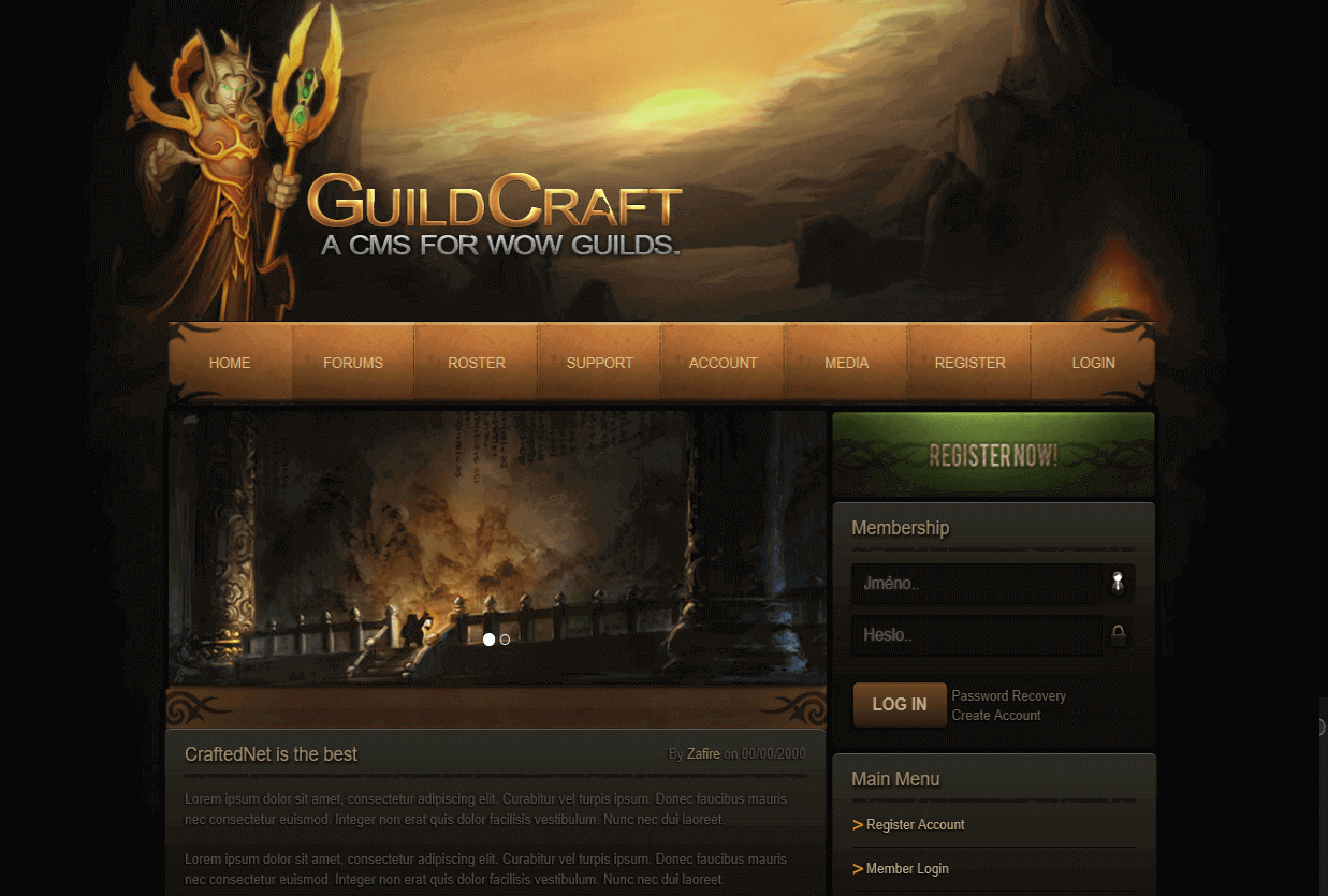 GuildCraft WoW Template