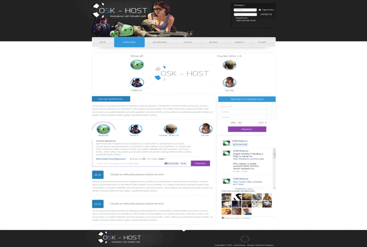 Osk-Host Hosting HTML template