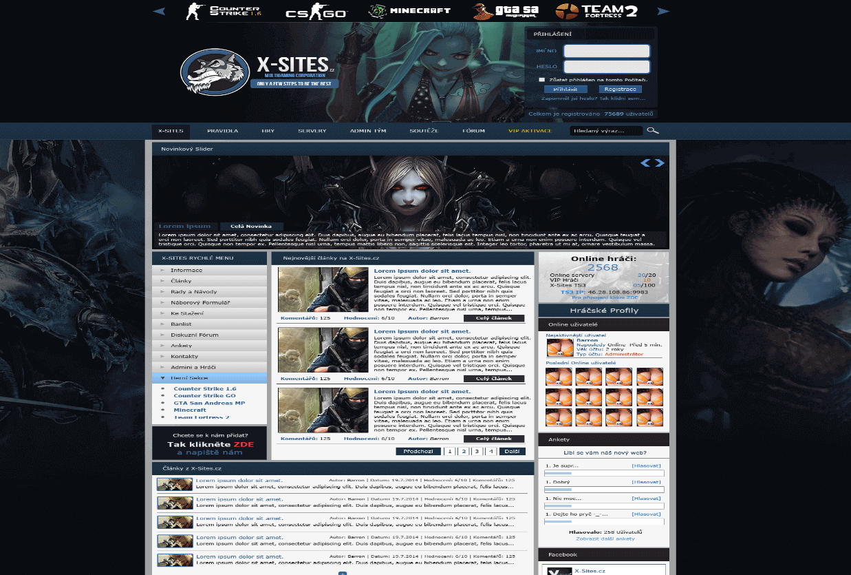 X-Sites Gaming HTML template